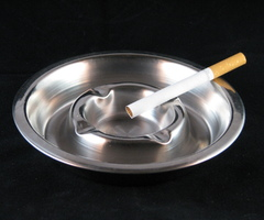 Asbak inox (afwas niet inbegrepen)