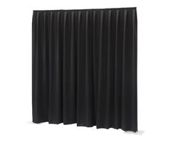 Pipe and drape zwart 3x3m (prijs op aanvraag)