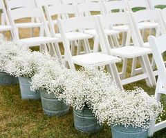 Wedding Chair - Witte vouwstoel