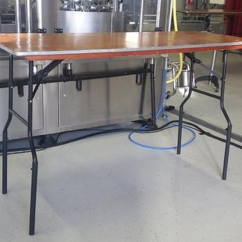 Tafellaken voor verhoogde tafel 6 pers. 183cmx76cm