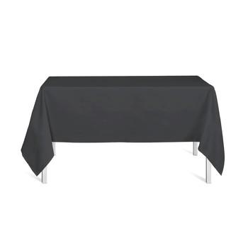 150cm x 250cm damast zwart