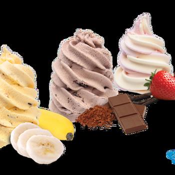 Ijscup voor ijsmachine - verschillende smaken te verkrijgen