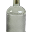 Vaas - Fles grijsgroen doorzichtig