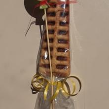Lollywafel met ballondecoratie (min. 20 stuks te bestellen)