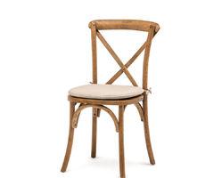 Crossback chair met kussen