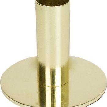 Kandelaar enkel / kaarsenhouder goud