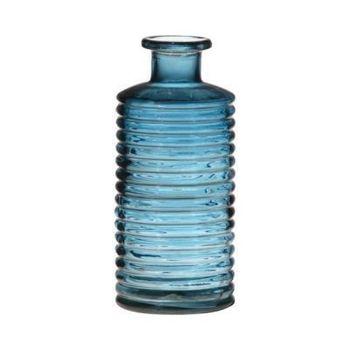 Blauwe flesvaas