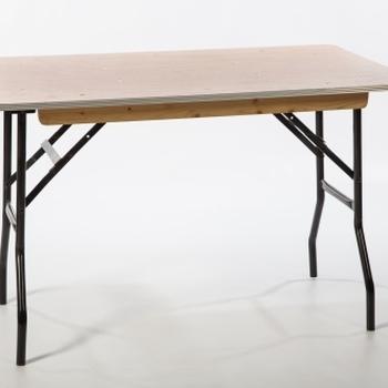 Vouwtafel 122cm x 76cm (4 pers.)