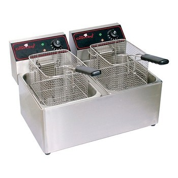 Elektrische friteuse 2x 5l (2x 3250 watt.)