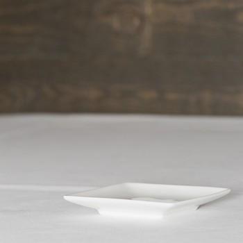 Hapjesbord vierkant afgerond 10cm