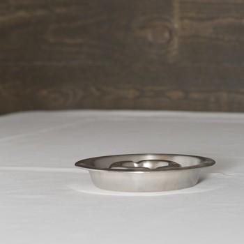 Asbak inox (afwas niet inbegrepen) per stuk